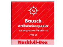 Бумага артикуляционная BK1002 красная 200мк. 300шт.