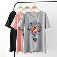 Стильная футболка с цветком, фото 1