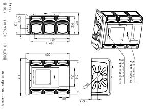 Печь кафельная ROMOTOP Broto керамика, фото 2