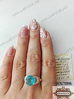 Кольцо из серебра и золота с фианитами Артемида