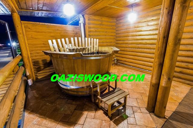 Офуро, фурако, японская баня, купель с печкой