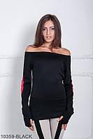 Жіноча чорна кофта з довгими рукавами Dina