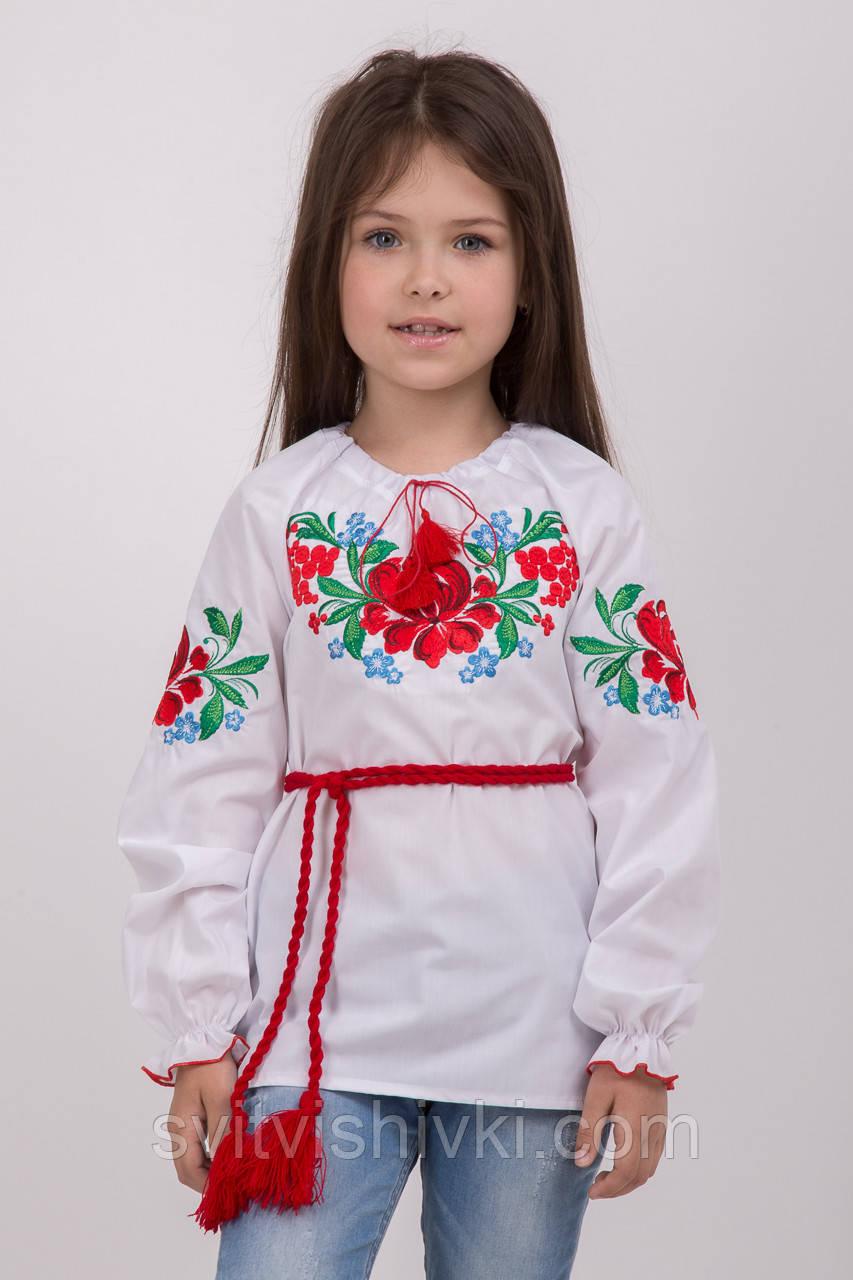 Яскрава вишита блуза для дівчинки