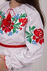 Яскрава вишита блуза для дівчинки, фото 2