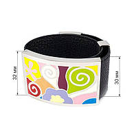 Кожаный браслет широкий с разноцветными вставками Арт. BS029LR, фото 5