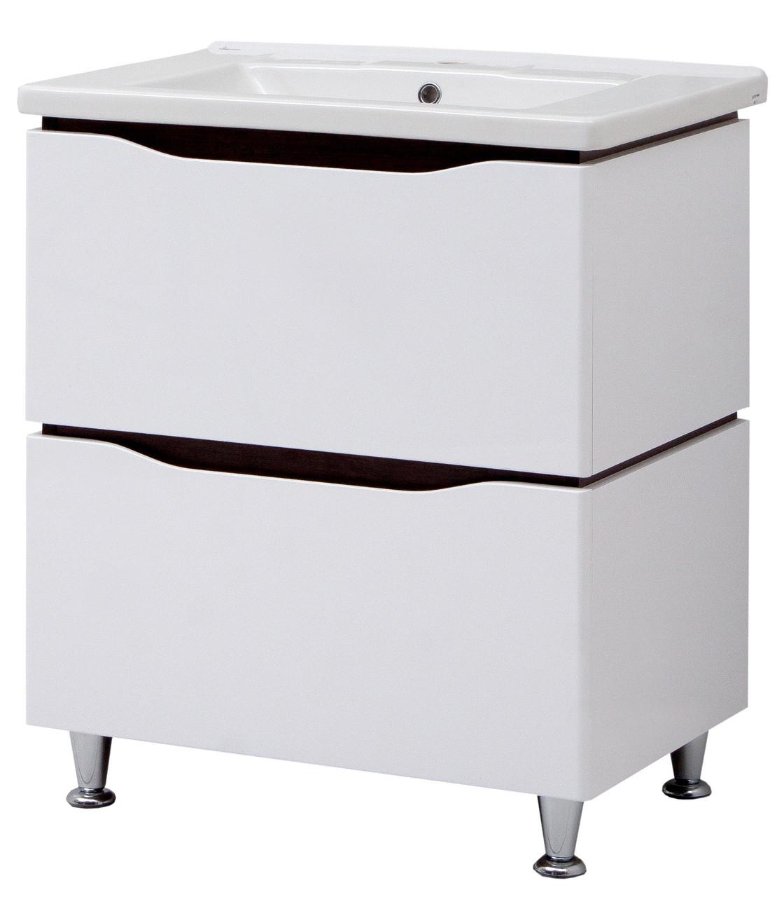 """Тумба под раковину для ванной комнаты Сенатор ТН-2 Д 70 с умывальником """"Кантэ"""" Юввис"""
