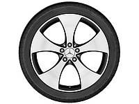Оригинальный литой 5-спицевый диск R20, для Mercedes GLC, тремолит (металлик), полированный