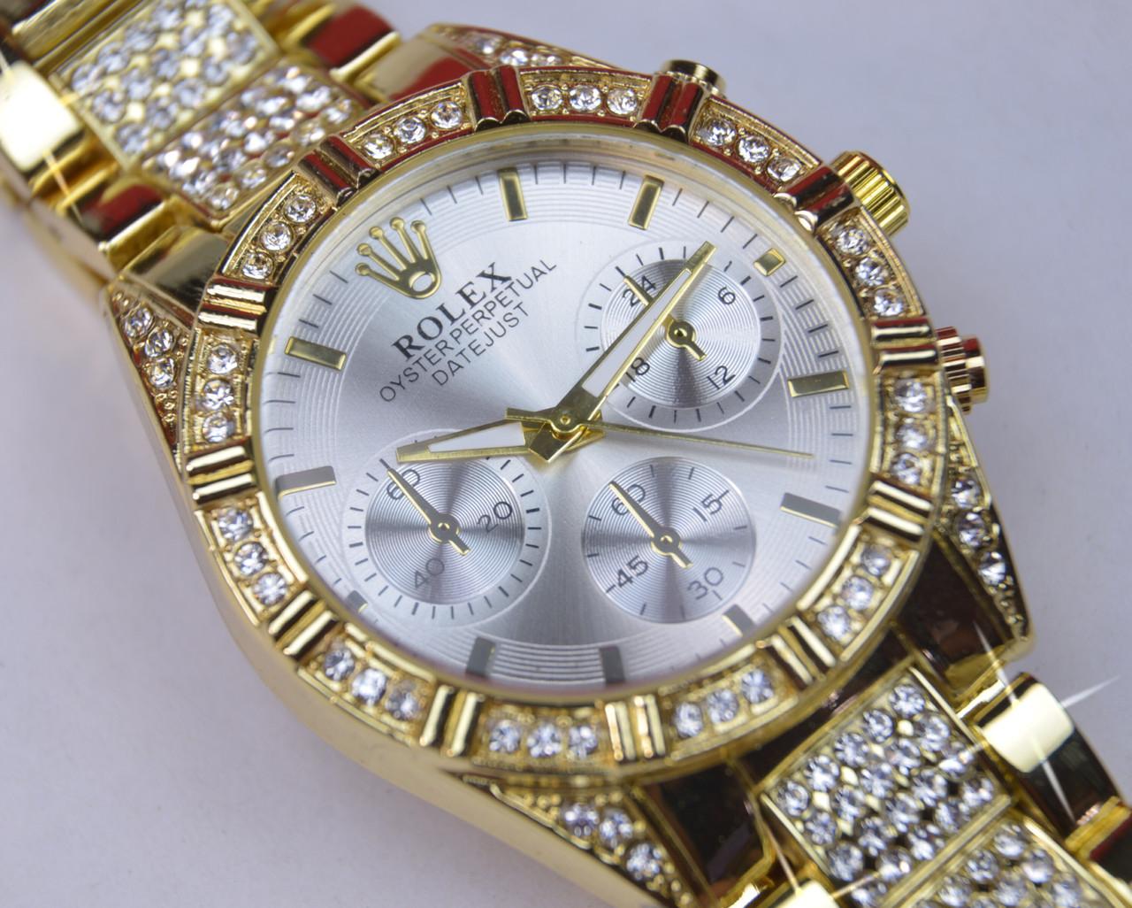 Женские наручные часы кварц корпус золотой