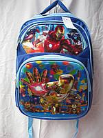 Рюкзак школьный ортопедический музыкальный(35х41 см) Железный человек оптом и в розницу 7 км