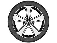 Оригинальный литой 5-спицевый диск R20, для Mercedes GLC, черный, полированный