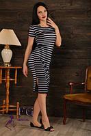 Платье летнее в полоску с коротким рукавом, фото 1