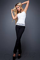 Элегантные черные брюки Карси  Jadone Fashion 42-48 размеры