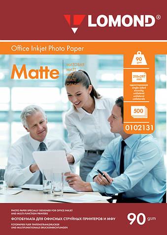 Односторонняя матовая фотобумага для струйной печати, A4, 90 г/м2, 500 листов