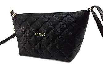 Сумка женская Dizar S-9480 28*16*10см натуральная кожа, черная