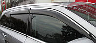 Дефлекторы окон (ветровики) Nissan Qashqai III 2014 -> С Хром Молдингом