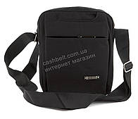 Качественная прочная мужская сумка почтальонка с качественного материала art. 8841 (100847) черный