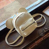 Городской женский мики-рюкзак белый с ушками