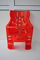 Детское седло на багажник (красное)