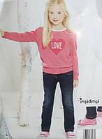 Детские утепленные джинсы на девочку сток бренд Impidimpi рост 74 80 до года