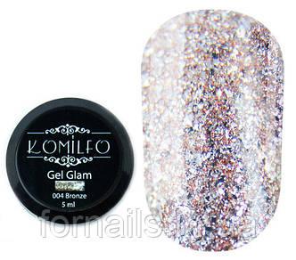 Komilfo Glam Gel №004 Bronze, 5 мл