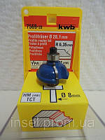 Фреза HM профильная Ø 28,1 мм, с опорным шарикоподшипником  kwb