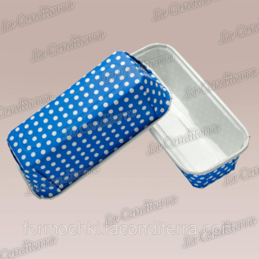 Синие формы для кексов Plumpy, прямоугольные 158x54x50 мм