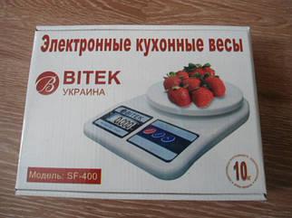 Весы кухонные Вітек  (10 кг) + батарейки