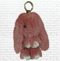Детская мягкая игрушка,зайка,пушистый брелок,бордовый