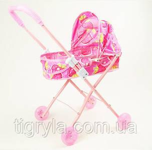 Коляска для кукол - лежачая, металлическая с сумочкой