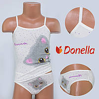 Детский комплект нижнего белья майка+трусики Donella, Турция. Donella 43344PS 0/1-R. Размер на 0-1 годик.
