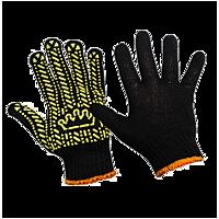 """Перчатки рабочие """"Корона"""" черные/оранжевые,плотировка"""