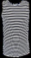 Тельняшка-майка синяя 100% х/б