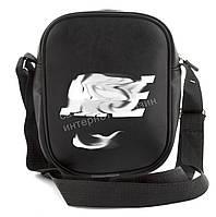 Качественная прочная мужская сумка почтальонка с искусственной кожи art.  35 (100811) черный