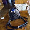 Рюкзак городской женский черный с очками, фото 8