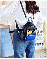 Рюкзак городской женский черный с очками