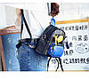 Рюкзак городской женский черный с очками, фото 4
