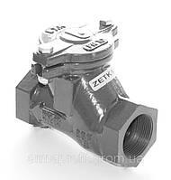 Клапан обратный канализационный чугунный муфтовый арт. 401 ZETKAMA Ду40 Ру10