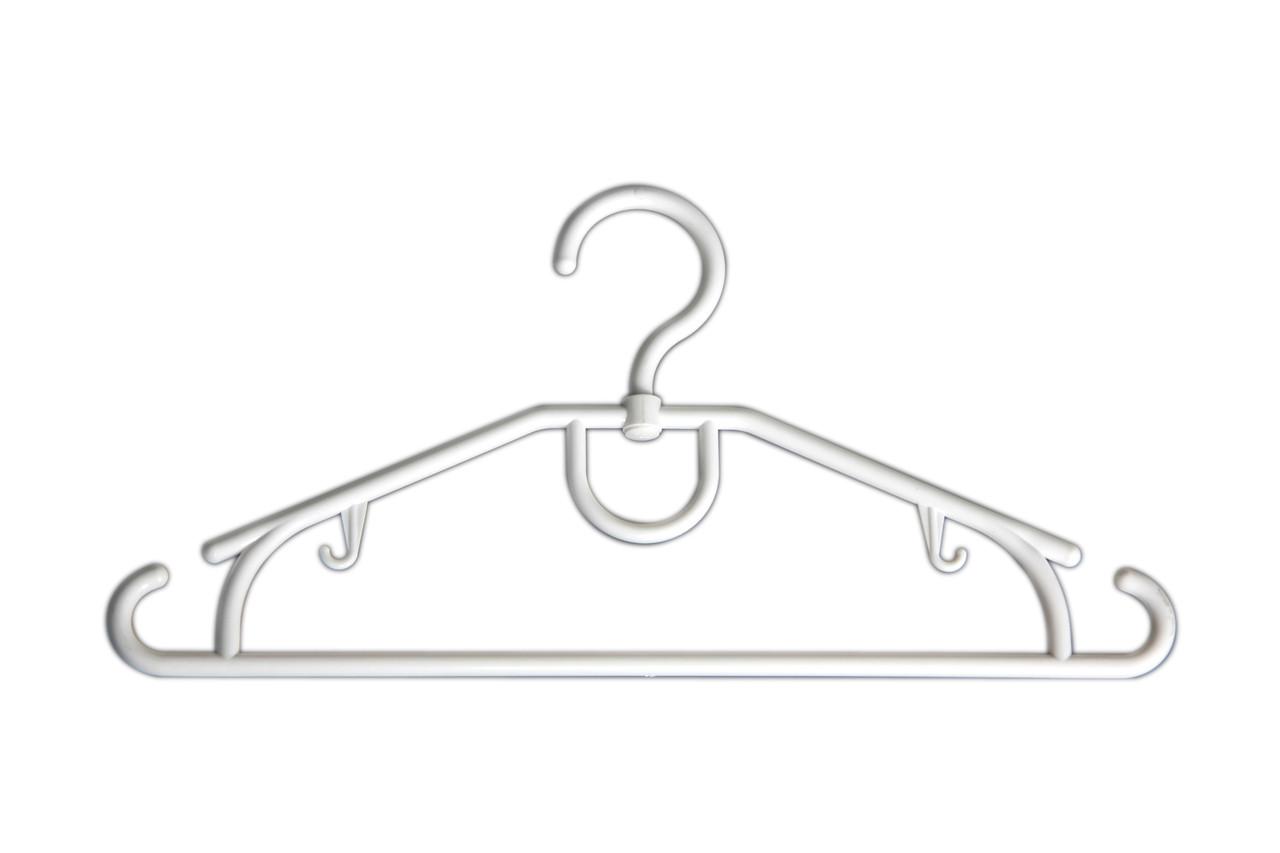 Плічка вішалки тремпеля Д-42/9 білого кольору, довжина 42 см
