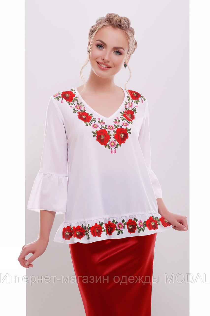 Свободная блузка-вышиванка, фото 1