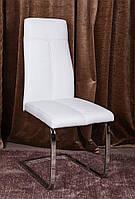 Стул хромированный металлический Gilbert(Жильберт) белый, стиль модерн