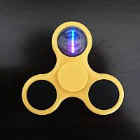 Спиннер светодиодный Fidget Toy светящийся Triod yellow