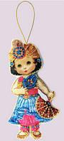 Набор для вышивания и шитья куклы из фетра Кукла. Восток