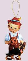 Набор для вышивания и шитья куклы из фетра Кукла. Германия - М