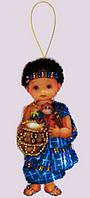 Набор для вышивания и шитья куклы из фетра Кукла. Африка - М