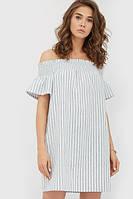 Літнє лляне сіре плаття в смужку Riddy