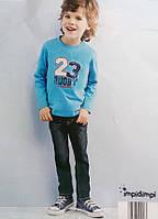 Детские летние джинсы на мальчика сток бренд Impidimpi рост 74 80 до года
