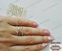Кольцо из серебра и золота Лили