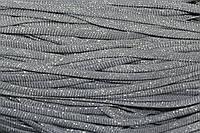 Шнур плоский 8мм (100м) св.серый + серебро