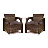 Кресло Allibert Corfu Duo коричневое, фото 3