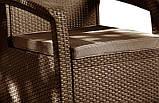 Кресло Allibert Corfu Duo коричневое, фото 2